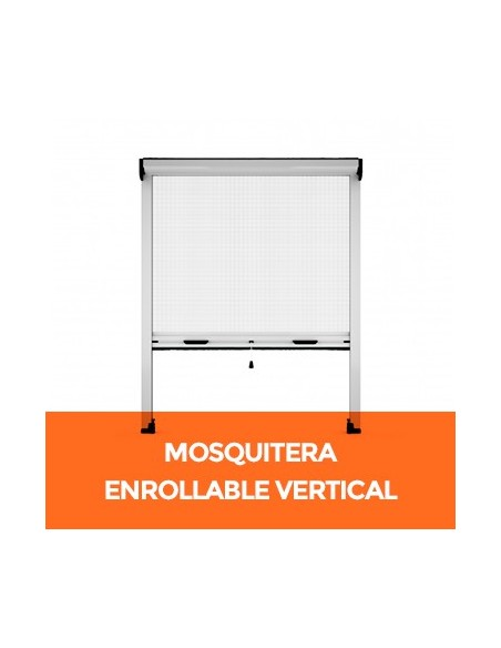 Mosquitera enrollable vertical