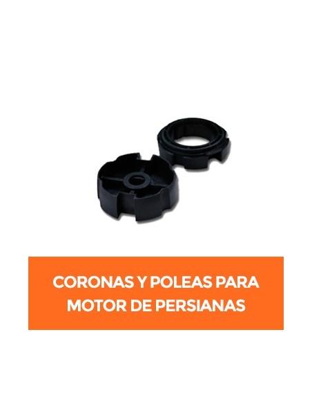 Coronas y poleas para motor vía radio de persianas