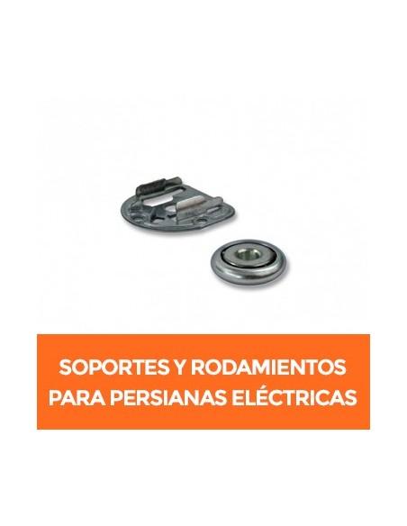 Soportes y rodamientos para motor vía radio de persianas